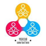瑜伽俱乐部设计 免版税库存图片