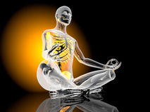瑜伽凝思姿势 库存照片