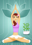 瑜伽凝思的妇女 库存图片