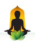 瑜伽凝思 免版税库存照片
