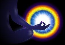 瑜伽凝思Mudra 向量例证