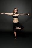 瑜伽和健身。 免版税库存照片