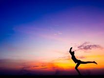 瑜伽和凝思 库存照片