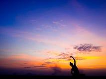 瑜伽和凝思 免版税库存照片