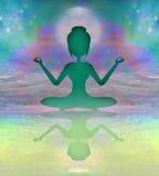 瑜伽和灵性 免版税库存照片