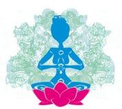 瑜伽和灵性 库存照片