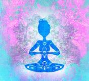 瑜伽和灵性 免版税库存图片
