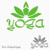 瑜伽商标 免版税库存图片