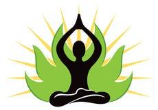瑜伽商标 图库摄影