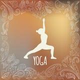 瑜伽商标 免版税图库摄影