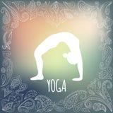 瑜伽商标 库存照片