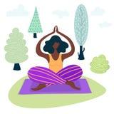 瑜伽女孩导航 向量例证