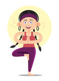 瑜伽妇女亭亭玉立健身的舒展 库存图片