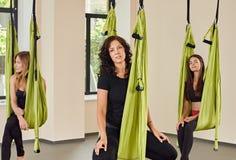 瑜伽妇女画象 库存图片