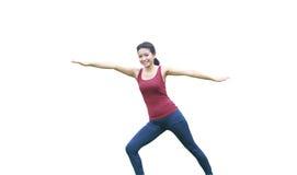 瑜伽姿势和舒展 库存照片