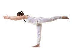 瑜伽姿势战士3 免版税库存图片