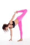 瑜伽姿势的- Sugarcrane位置俏丽的妇女。 免版税库存照片