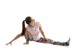 瑜伽实践 免版税图库摄影