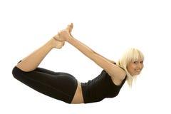 瑜伽执行 免版税库存图片
