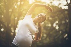 瑜伽是我的选择 免版税图库摄影