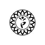 瑜伽标志 免版税库存图片
