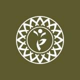 瑜伽标志 库存图片