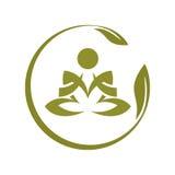 瑜伽标志 免版税图库摄影