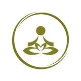 瑜伽标志 库存例证