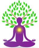 瑜伽树 向量例证