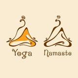 瑜伽演播室商标 库存照片