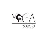 瑜伽演播室的商标 免版税图库摄影