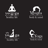 瑜伽演播室的商标 图库摄影