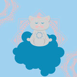 瑜伽猫 免版税图库摄影