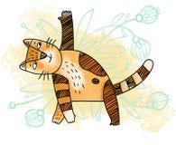 瑜伽猫 免版税库存图片