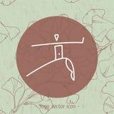 瑜伽瑜伽学校的徽章象 图库摄影