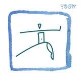 瑜伽瑜伽学校的徽章象 库存图片