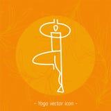 瑜伽瑜伽学校的徽章象 免版税库存照片