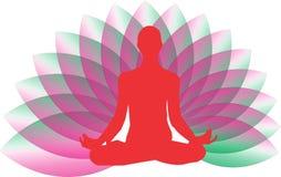 瑜伽禅宗商标 免版税库存图片