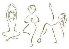 瑜伽训练 免版税库存图片