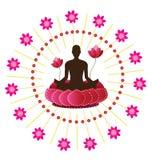 瑜伽象 免版税库存照片