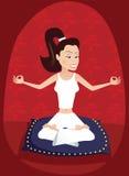 瑜伽辅导员女孩 免版税库存照片