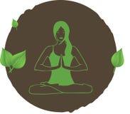 瑜伽邮票 库存图片