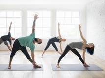 瑜伽练习类概念 图库摄影