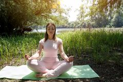 瑜伽-健康生活方式 库存图片
