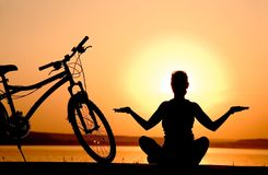 瑜伽 免版税库存图片