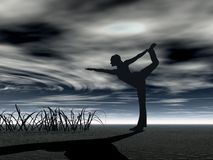 瑜伽 库存例证