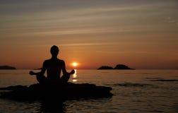 瑜伽 免版税库存照片