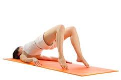 瑜伽asana照片系列。 免版税库存照片