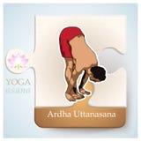 瑜伽Asana Ardha Uttanasana 图库摄影