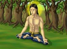 瑜伽samadhi 免版税库存图片